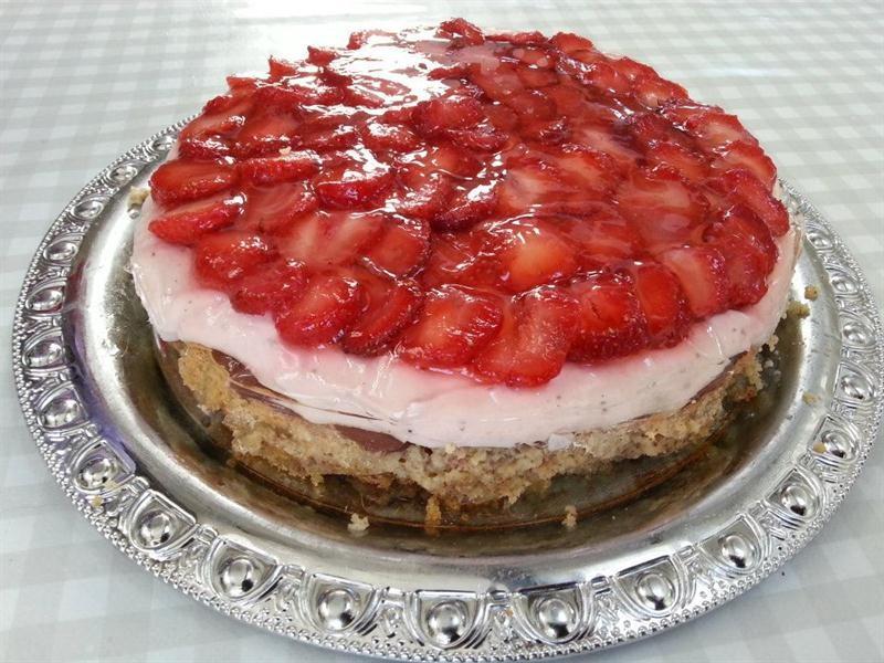 Jordbær cheesecake